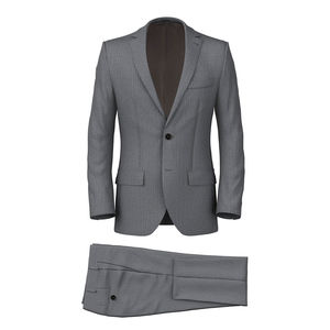 Grey Herringbone Suit Fabric produced by  Reda