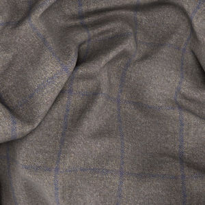 Beige Overcheck Jacket Fabric produced by  Reda