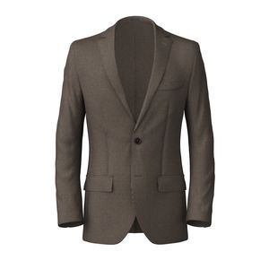 Blazer Brown Microdesign Cotton