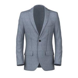 Blazer Denim Cotton Silk