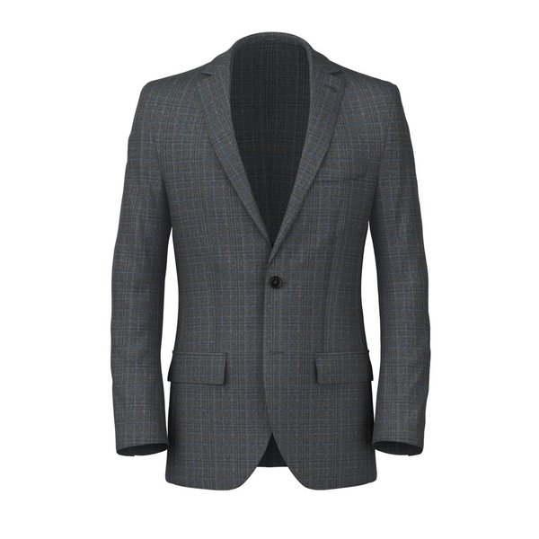 Grey Napoli Prince of Wales Blazer Fabric produced by  Tallia Delfino