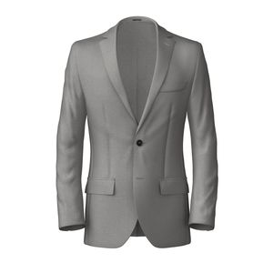 Grey Pearly Wool Silk Blazer Fabric produced by  Tallia Delfino
