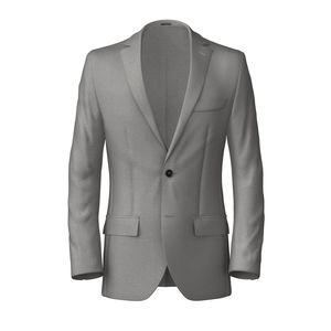 Blazer Grey Wool Silk