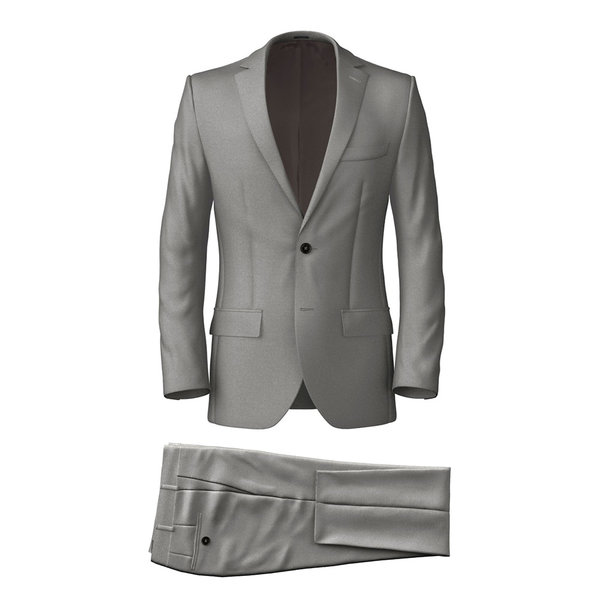 Suit Tallia Delfino Four Seasons Solid Light Grey
