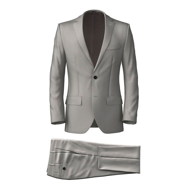 Authentic Grey Suit Fabric produced by  Tallia Delfino