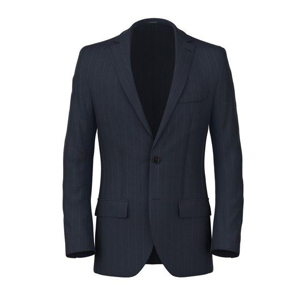 Vittorio Blue Pinstripe Blazer Fabric produced by  Vitale Barberis Canonico