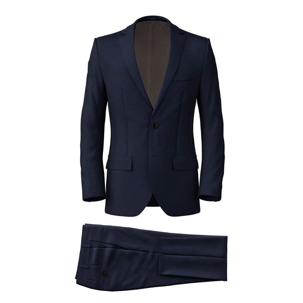 Suit Vitale Barberis Canonico Four Seasons Twill Blue