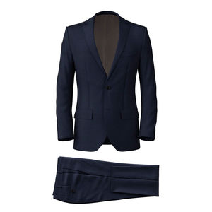 Suit Melange Blue