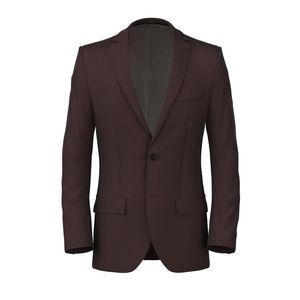 Burgundy Satin Jacket Fabric produced by  Lanificio Zignone