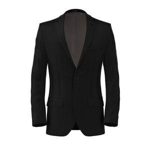 Black Satin Jacket Fabric produced by  Lanificio Zignone