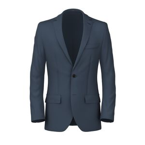 Blazer Twill Blu Polvere Tessuto prodotto da  Lanificio Zignone