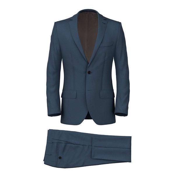 Blue Powder Twill Suit Fabric produced by  Lanificio Zignone