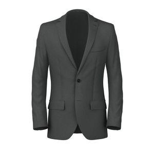Charcoal Grey Flannel Blazer Fabric produced by  Lanificio Zignone