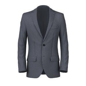 Midnight Blue Houndstooth Blazer Fabric produced by  Drago