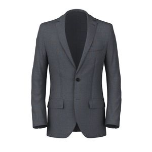 Blue Check Sharkskin Blazer Fabric produced by  Reda