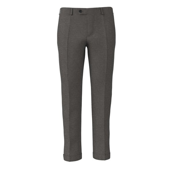 Trousers Reda Four Seasons Solid Light Grey