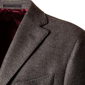Cappotto Grigio Melange Tessuto prodotto da  Tessitura di Quaregna