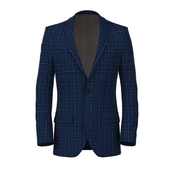 Giacca Blu Napoli Principe di Galles Tessuto prodotto da  Drapers