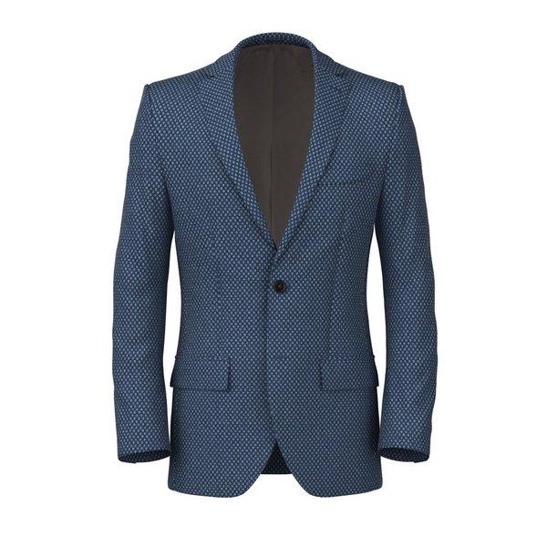 Giacca Blu Macro Dots Tessuto prodotto da  Tessitura di Quaregna