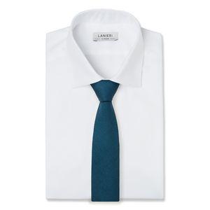 Cravatta Blu Hopsack Tessuto prodotto da  Vitale Barberis Canonico