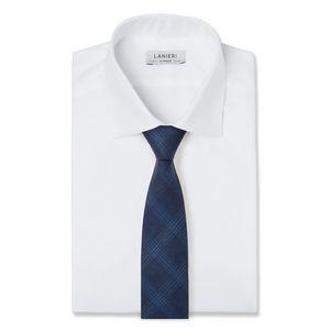 Cravatta Blu Principe di Galles Tessuto prodotto da  Tallia di Delfino