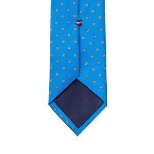 Cravatta Roma Blu Elettrico Tessuto prodotto da  Lanieri