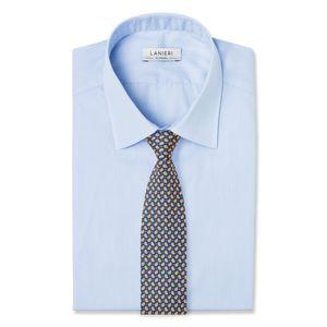 Cravatta Boteh Giallo Tessuto prodotto da  Lanieri