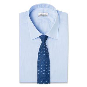 Cravatta Mare Blu Notte Tessuto prodotto da  Lanieri