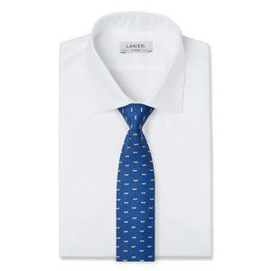 Cravatta Mare Blu Tessuto prodotto da  Lanieri
