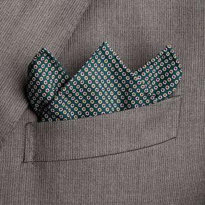 Pochette Vintage Verde Tessuto prodotto da  Lanieri