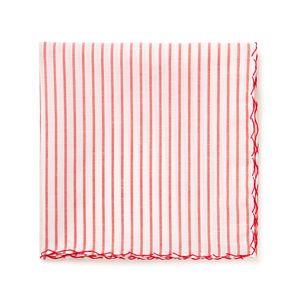 Pochette Crochet Rossa Rigata Tessuto prodotto da  Grandi & Rubinelli
