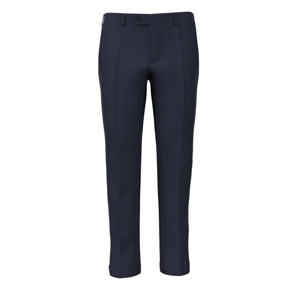 Super 180's Blue Trousers Fabric produced by  Drago
