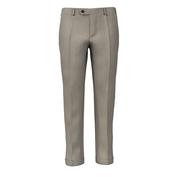 Beige Flannel Trousers Fabric produced by  Drago