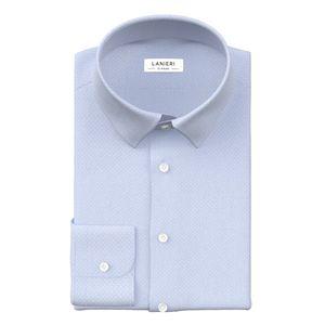 Light Blue Jacquard Shirt Fabric produced by  Albini