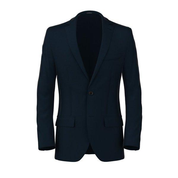 Blue Microdesign Blazer Fabric produced by  Reda