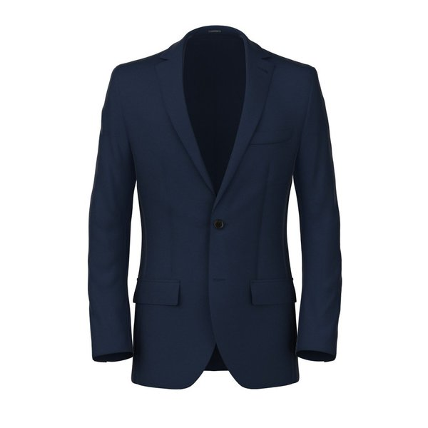 Blue Micro Herringbone Blazer Fabric produced by  Reda
