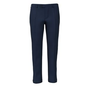 Blue Micro Herringbone Trousers Fabric produced by  Reda