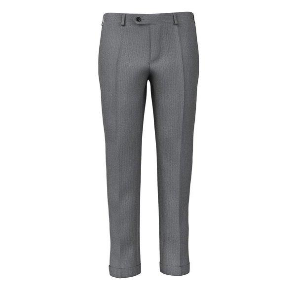 Pantaloni Grigi Spigati Tessuto prodotto da  Reda