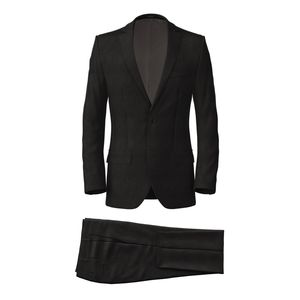 Authentic Black Suit Fabric produced by  Reda