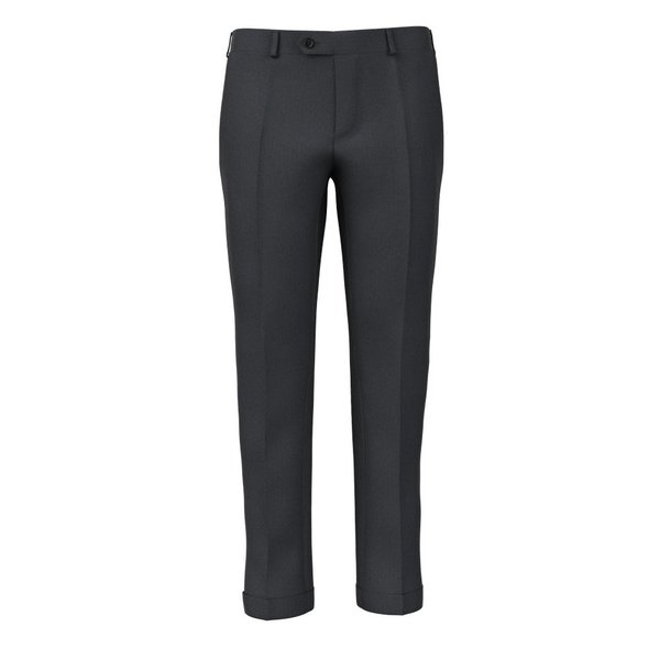 Charcoal Grey Herringbone Trousers Fabric produced by  Reda