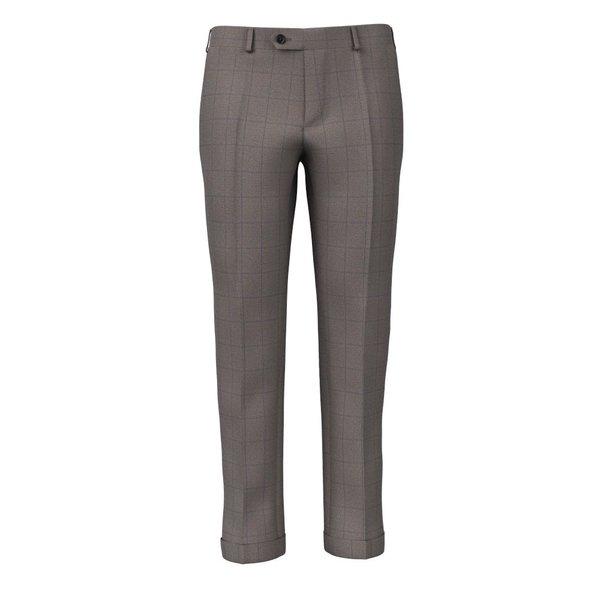 Pantaloni Beige Finestrati Tessuto prodotto da  Reda