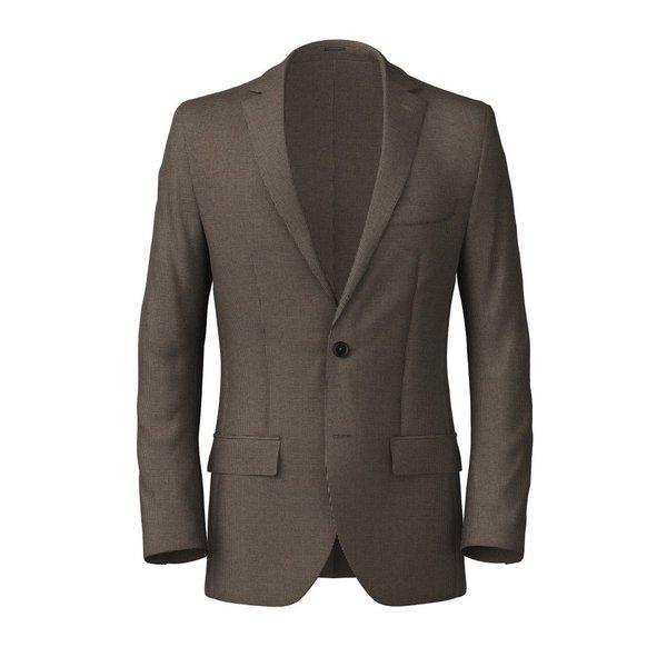 Brown Microdesign Cotton Blazer Fabric produced by  Lanificio Subalpino