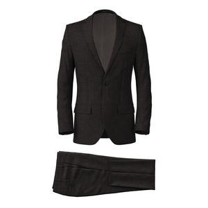 Metropolis Grey Sharkskin Suit Fabric produced by  Vitale Barberis Canonico