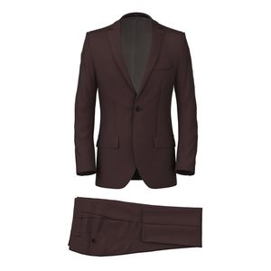 Burgundy Satin Suit Fabric produced by  Lanificio Zignone