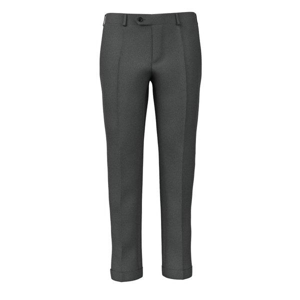 Pantaloni Antracite Flanella Tessuto prodotto da  Lanificio Zignone