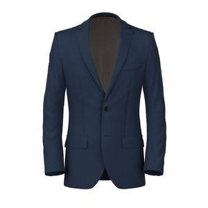 Linen Silk Blue Jacket Fabric produced by  Carlo Barbera