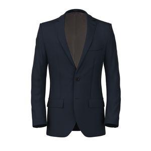 Blue Melange Jacket Fabric produced by  Lanificio Ermenegildo Zegna