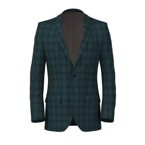 Green Tartan Jacket Fabric produced by  Lanificio Ermenegildo Zegna