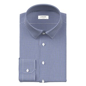 Blue Check Shirt Fabric produced by  Canclini