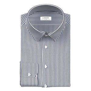Camicia Righe Blu Notte Tessuto prodotto da  Canclini